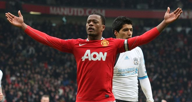Patrice Evra: Appeared to taunt Luis Suarez after Manchester United's win over Liverpool