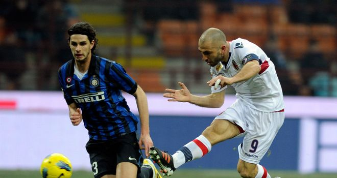 Marco Di Vaio: Striker scored twice as Bologna stunned Inter Milan 3-0 at the San Siro