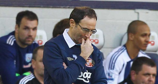 Martin O'Neill: Could hardly watch as his Sunderland side were outclassed by a rampant West Brom outfit
