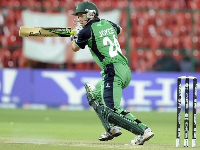 Ed Joyce: Struck an unbeaten 96 for Ireland