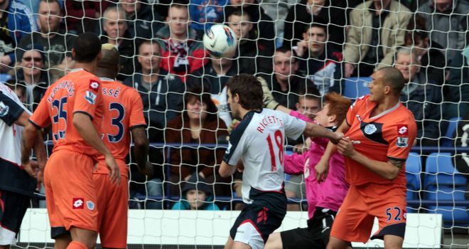 QPR's Clint Hill controversially saw this goal chalked off at Bolton