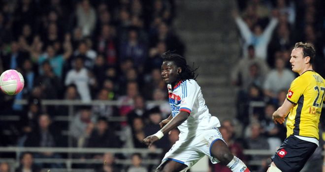 Bafetimbi Gomis: Lyon have received offers for the striker, who has been linked with Fulham