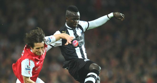 Cheick Tiote: Admits it is not easy missing games but is remaining positive