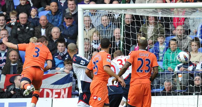 Clint Hill's would-be opener for QPR was controversially disallowed at Bolton