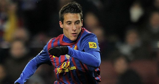 Cristian Tello: Has made five appearances for Pep Guardiola's first team this season