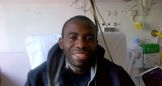 Fabrice Muamba: Bolton midfielder returns to Twitter to thank everyone for their support