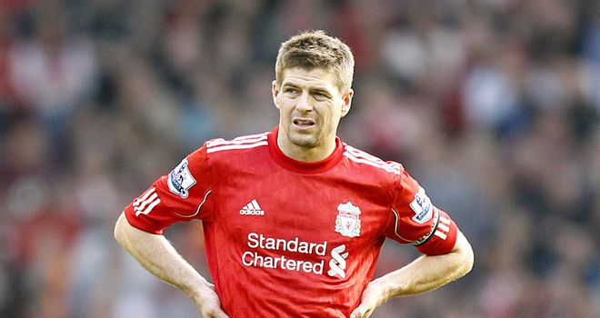 Steven Gerrard: Hoping the hero at Wembley on Saturday will be wearing red.