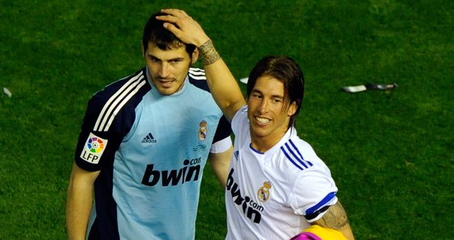 Casillas and Ramos: held meeting without Mourinho