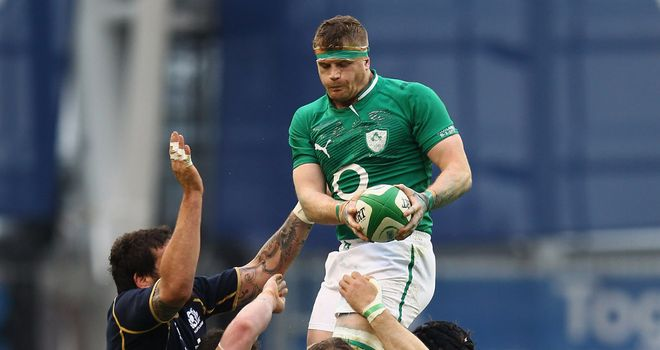 Jamie Heaslip: Thrilled to become Ireland captain