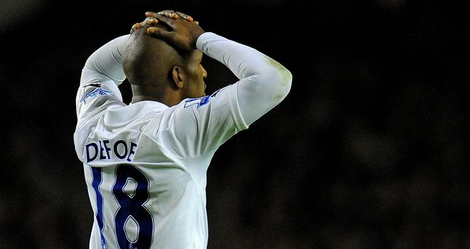 Jermain Defoe: Frustrated at lack of football at Spurs