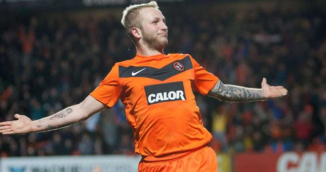 Johnny Russell: Striker was on target for Dundee United against Hibernian