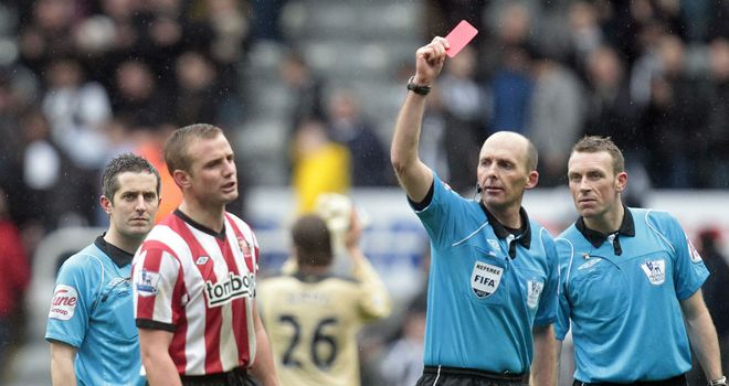 Lee Cattermole: Sunderland captain was sent off after the final whistle by referee Mike Dean