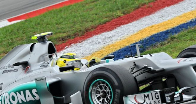 Nico Rosberg: Will start the Malaysian GP seventh on the grid