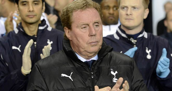 Harry Redknapp: Challenged his Spurs side to win each of their remaining four games