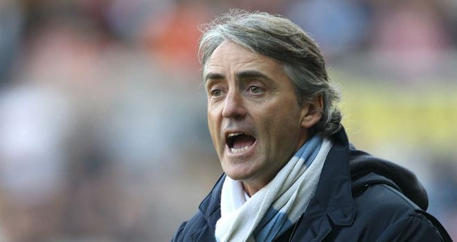 Roberto Mancini: Manchester City manager is confident that his team will win the Premier League title