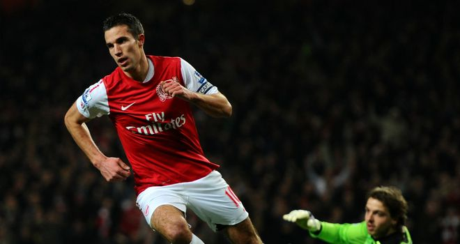 Robin van Persie: Urging Arsenal to push forward and make it six straight wins against Everton