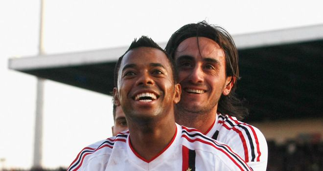 Robinho: Opened the scoring for AC Milan, but the Serie A leaders were unable to secure the win