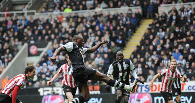 Shola Ameobi: Newcastle striker came off the bench to score a late equaliser against Sunderland