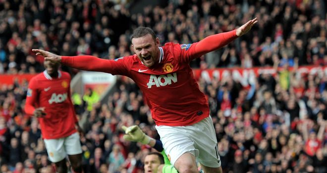 Wayne Rooney: Manchester United striker has been challenged to score in every remaining game this season