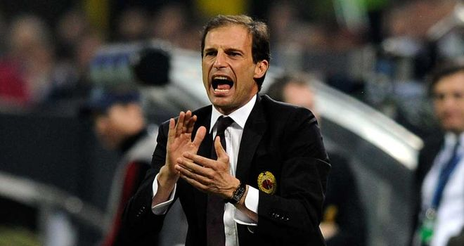 Massimiliano Allegri: Has praised owner Silvio Berlusconi for his refusal to sell any of AC Milan's star players