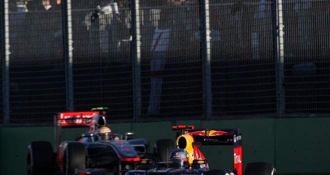 Vettel led Hamilton home after jumping him at the stops