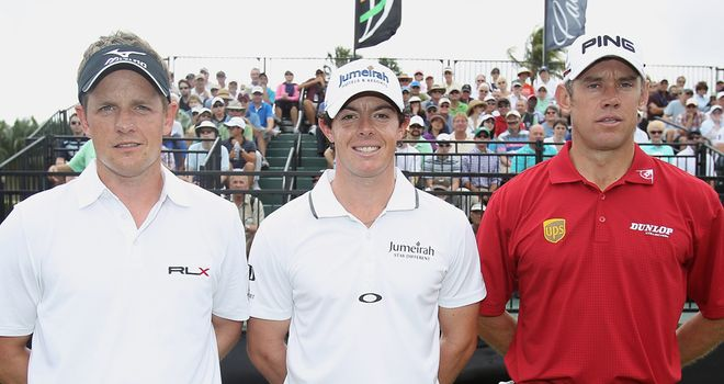 Donald, McIlroy and Westwood: The world's top three will play together