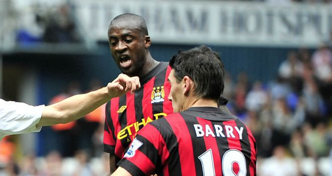 Gareth Barry: Gael Clichy has praised the midfielder for his role in helping Yaya Toure to impress
