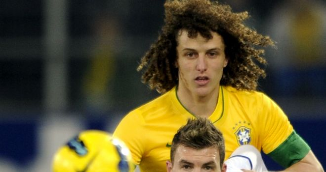 David Luiz: Struggled to contain the threat posed by Edin Dzeko