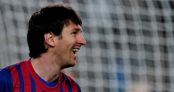 Lionel Messi scores five goals in Barcelona's romp against Bayer Leverkusen