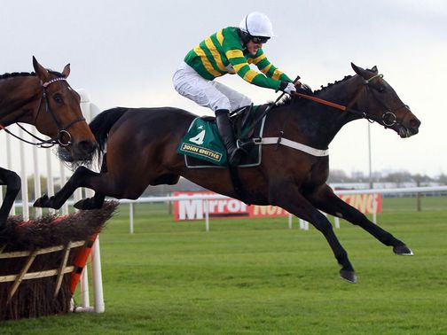 Darlan and Tony McCoy in action at Aintree in April