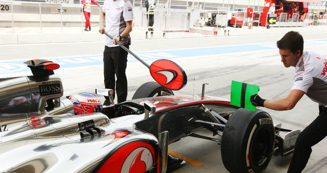 Jenson Button: Far from happy with the MP4-27