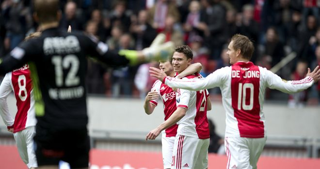 Derk Boerrigter: Bagged a brace for Ajax in victory over De Graafschap