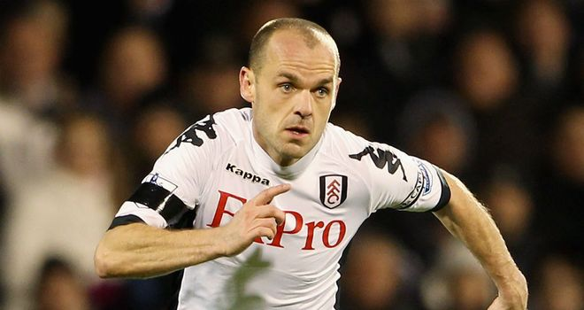 Danny Murphy: The Fulham midfielder is out of contract at the end of the current season
