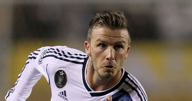 David Beckham: Remains in contention for a place in the final GB Olympic squad