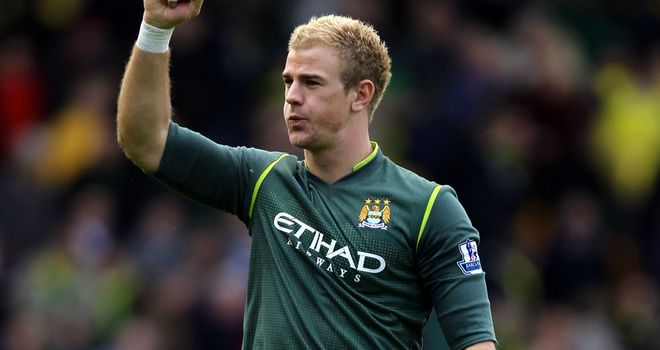 Joe Hart: Ready for the title showdown with Manchester United