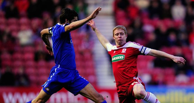 Friend: In action against Boro