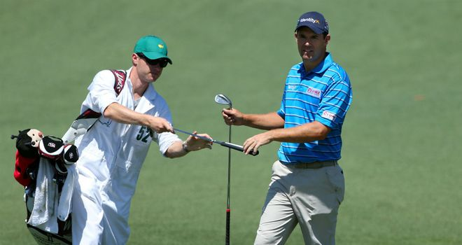 Padraig Harrington: at four under he has every chance on Sunday