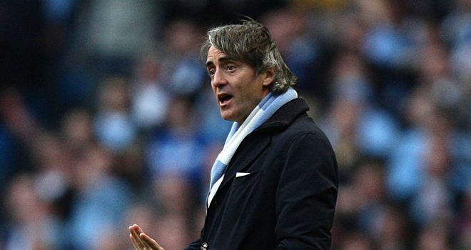 Roberto Mancini: Linked with a move to Russia but has now agreed a new Manchester City deal