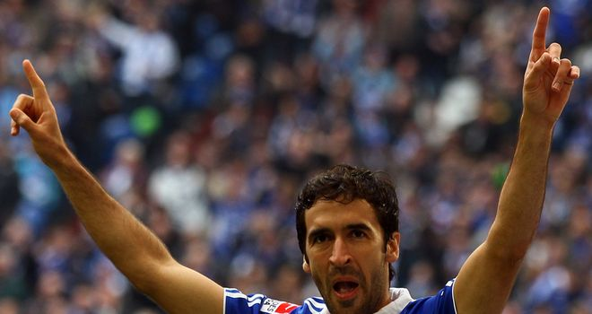 Raul: Netted twice at the Arena AufSchalke