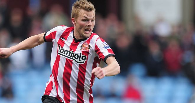 Sebastian Larsson: The Sweden star was one of six Sunderland players given an extended break because of their Euro 2012 commitments