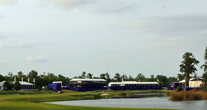 The 18th hole at TPC Louisiana is a 585-yard par five