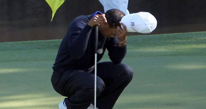 Tiger Woods: Eight shots off the leaders heading into the weekend