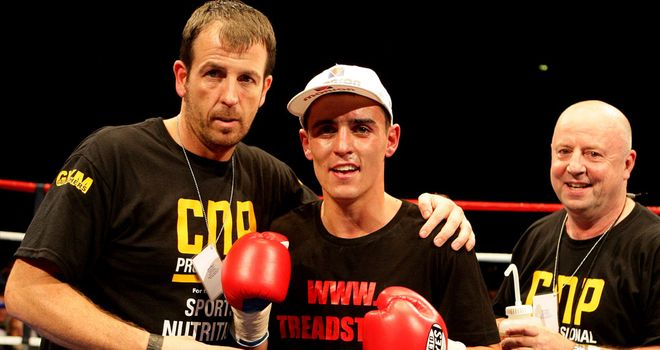 Joe Gallagher (L) with Anthony Crolla, who is looking to gain revenge over Derry Mathews