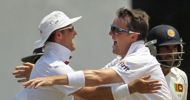 Graeme Swann (R): Looking for England to press home their advantage