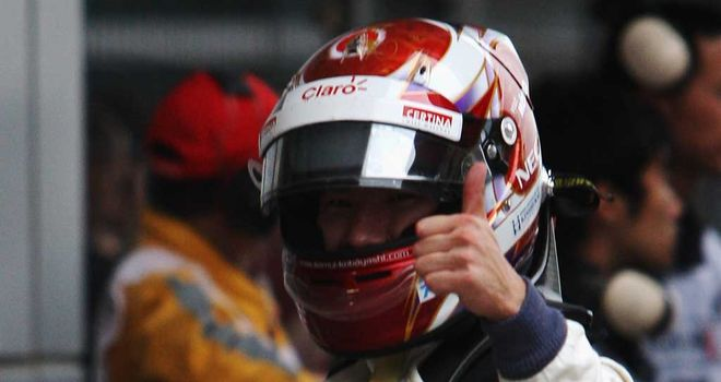 Kamui Kobayashi: Starts third on the grid in China