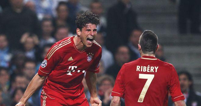 Mario Gomez: Goal machine Gomez celebrates one of his many goals last season