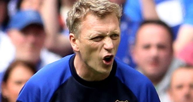 David Moyes: Looking for a reaction after losing 2-1 to Liverpool in the FA Cup last week