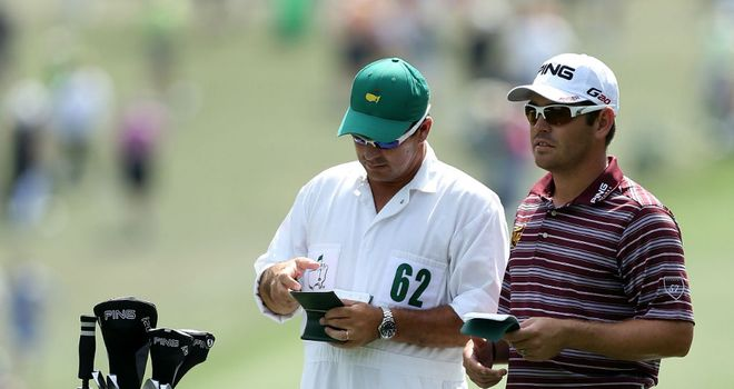 Louis Oosthuizen: Birdied four of his last five holes in the first round at Augusta