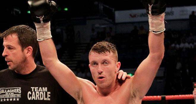 Scott Cardle: Keeping busy with a six-rounder in Rotherham (Pic Lawrence Lustig)