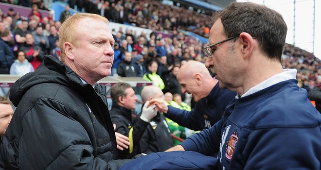Martin O'Neill: Faced one of his successors, Alex McLeish, when returning to Aston Villa